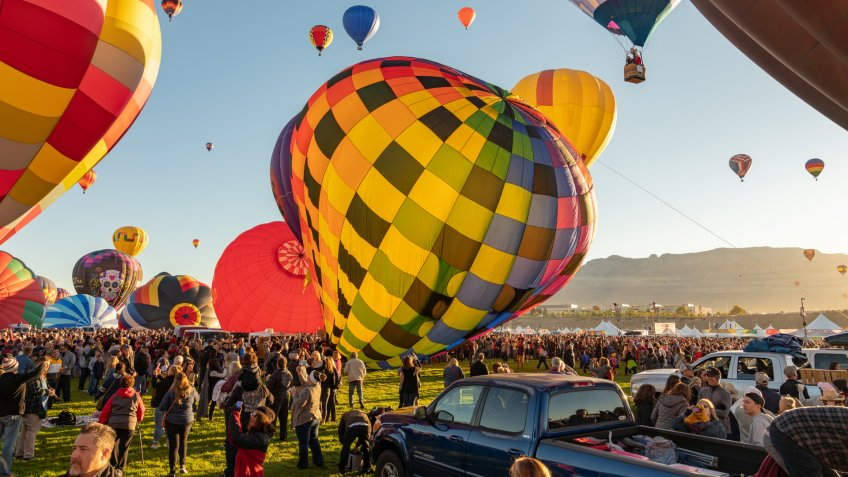 Hot Air Balloon Festival in Albuquerque.