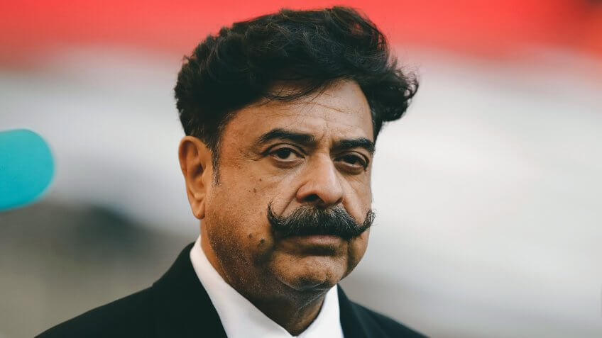 Jacksonville Jaguars owner, Shahid Khan, arrives to watch the warm-up before an NFL football game against Philadelphia Eagles at Wembley stadium in LondonJaguars Eagles Football, London, United Kingdom - 28 Oct 2018.