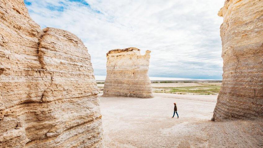 Monument Rocks, Kansas, USA.