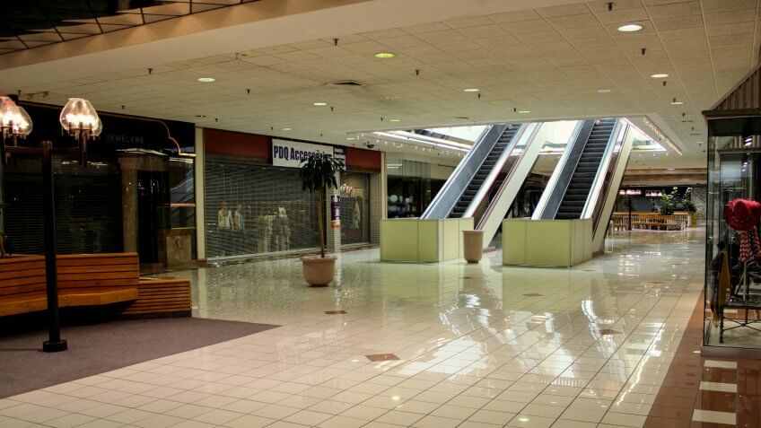 Overland Park, Kansas / United States - April 1 2014:Last Days of Metcalf South Mall prior to Demolition.