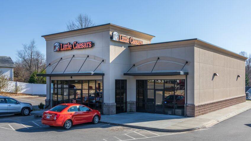Newton, NC, USA-12/26/18: Little Caesar Enterprises, Inc.
