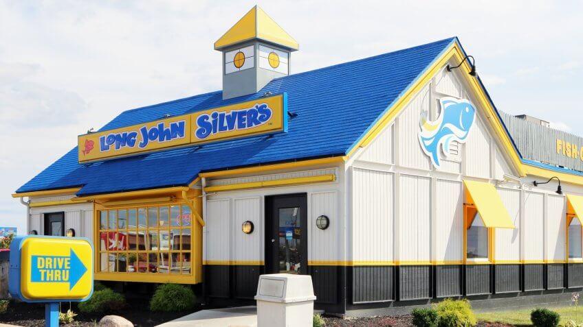 Lexington, Kentucky-December 30, 2017:  Newly remodeled Long John Silver's seafood restaurant.