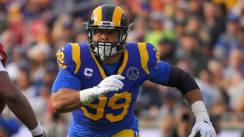 Los Angeles Rams defensive tackle Aaron Donald