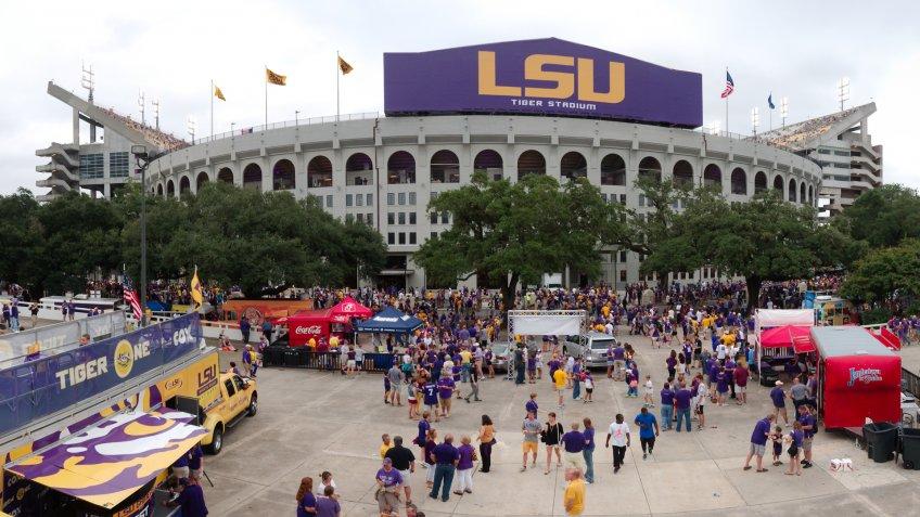 Baton Rouge, USA - 2014: Tiger Stadium, Louisiana State University's Football stadium, can hold more than 100,000 people.