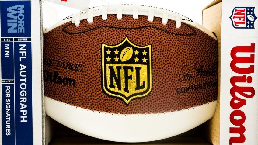 NFL football memorabilia.