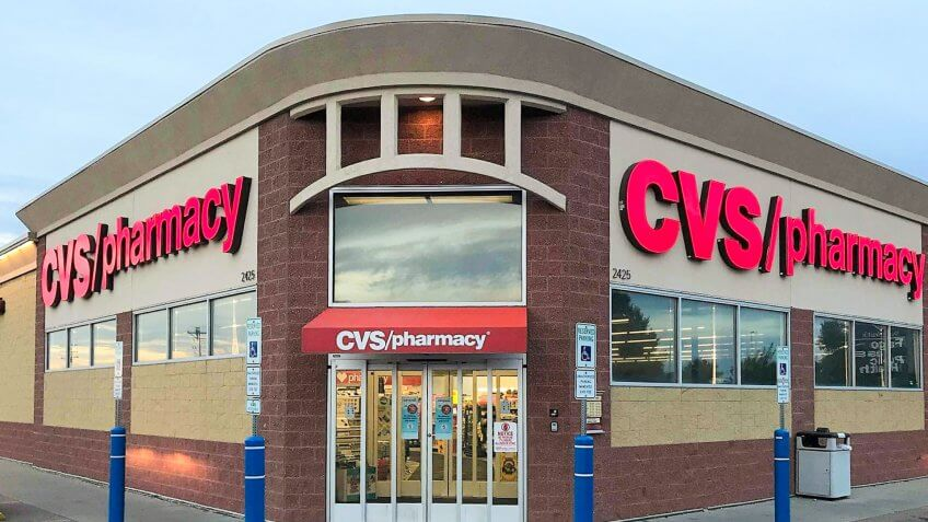 Fargo North Dakota/USA-August 31 ,2019 , Main Entrance OF CVS Pharmacy , CVS Pharmacy is a subsidiary of the American retail and health care company.