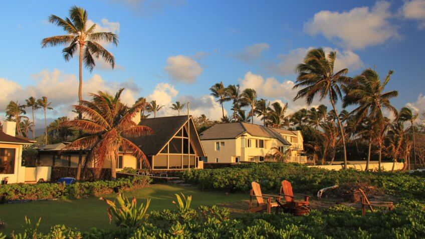 An Oahu beach house.