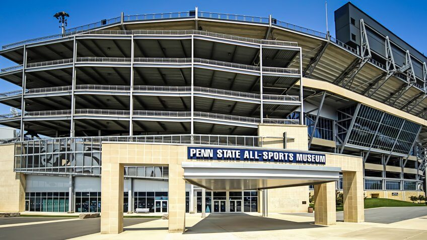 State College, PA, USA - May 23, 2007: Penn State University Football Stadium at State College PA.