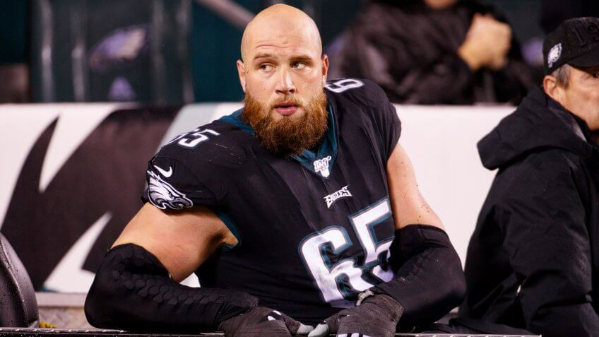 Philadelphia Eagles right tackle Lane Johnson
