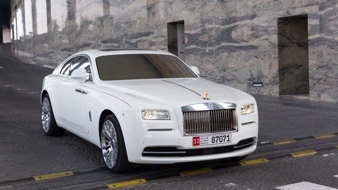 ABU DHABI, UAE - MARCH 29: Rolls-Royce Wraith at the Etihad Towers Hotel in Abu Dhabi on march 29 2014.