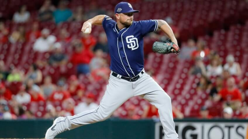 San Diego Padres closer Kirby Yates