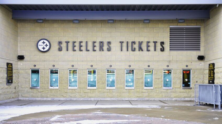 Steelers Ticket booth.