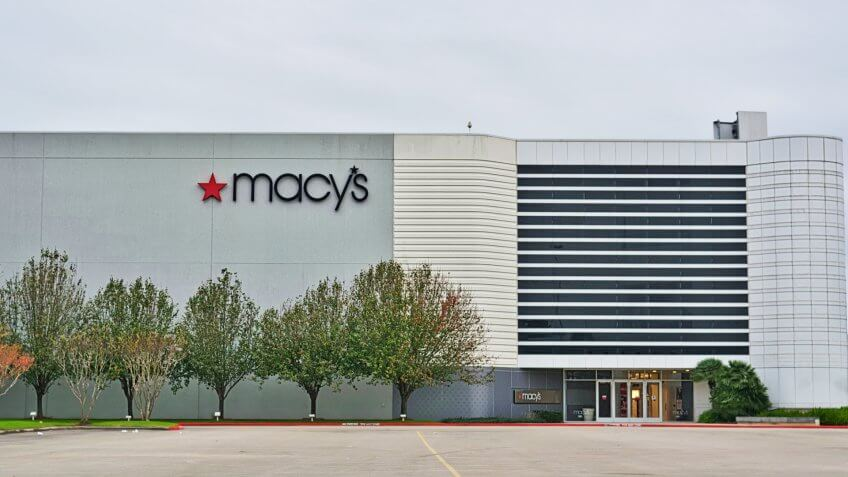 Humble, Texas/USA 12/20/2019: Macy's department store exterior in Humble, TX.