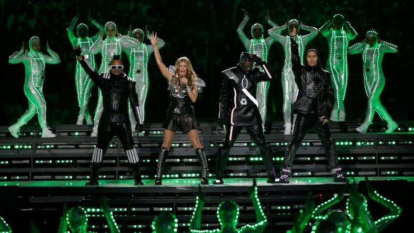 The Black Eyed Peas Super Bowl XLV performance