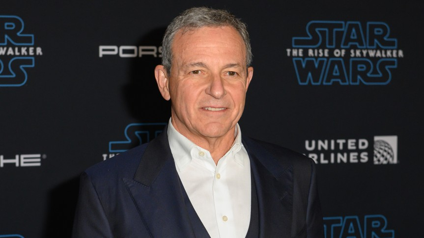 "HOLLYWOOD, CALIFORNIA / USA - DECEMBER 16, 2019: The Walt Disney Company Chairman and CEO Bob Iger attends the premiere of Disney's ""Star Wars: The Rise of Skywalker"" on December 16, 2019 in Hollywood."