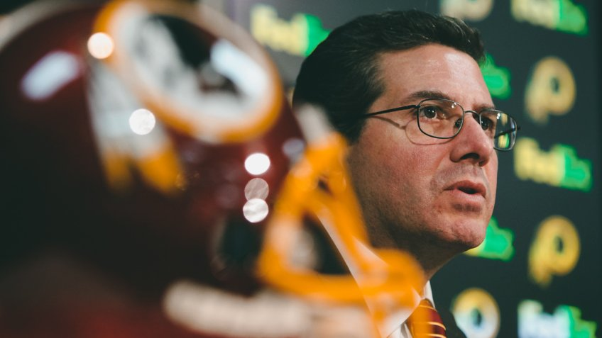 Dan Snyder Washington Redskins owner Dan Snyder, speaks to the media during a news conference, in Ashburn, Va.