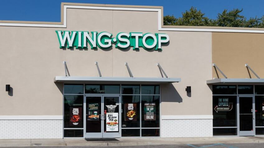 Indianapolis - Circa September 2019: Wingstop chicken wing casual restaurant.
