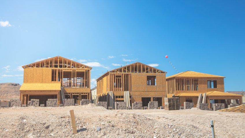 House construction in Las Vegas USA.