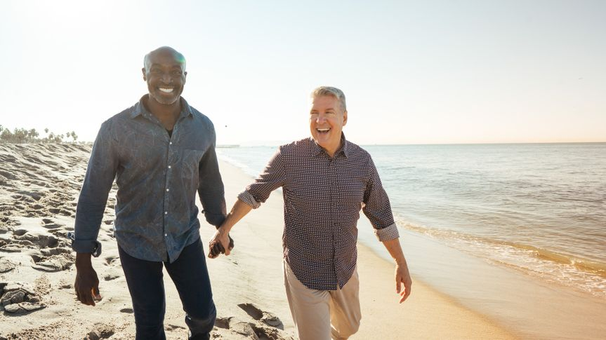 Senior couple on the beach in Florida