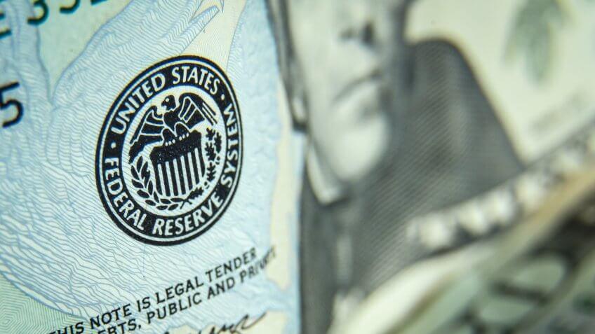 Close up shot of twenty dollars bills - US paper currency.