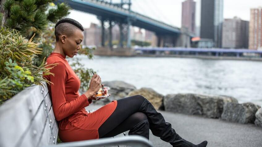 Beautiful young woman in NYC, Brooklyn.