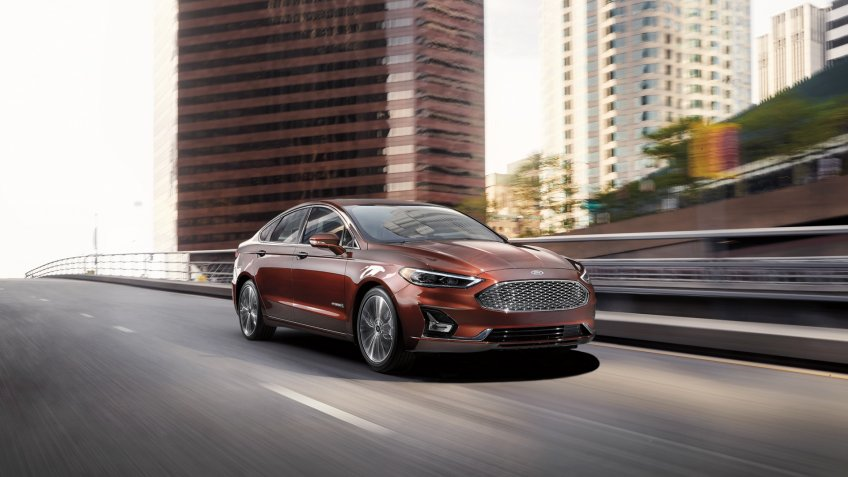 2020 Ford Fusion Hybrid Titanium Rich Copper Metallic.