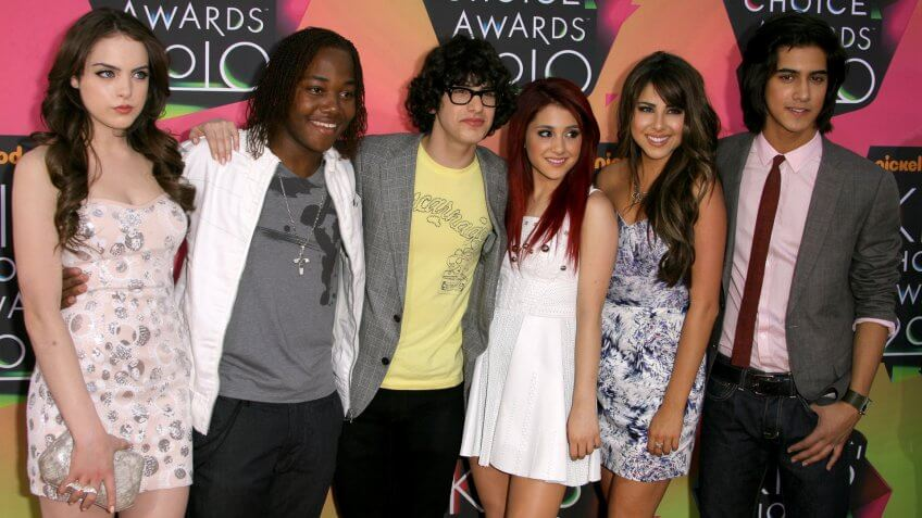 Cast of 'Victorious' - Elizabeth Gillies, Leon Thomas, Matt Bennett, Ariana Grande, Daniella Monet and Avan JogiaNickelodeon Kids Choice Awards, Los Angeles, America - 27 Mar 2010.