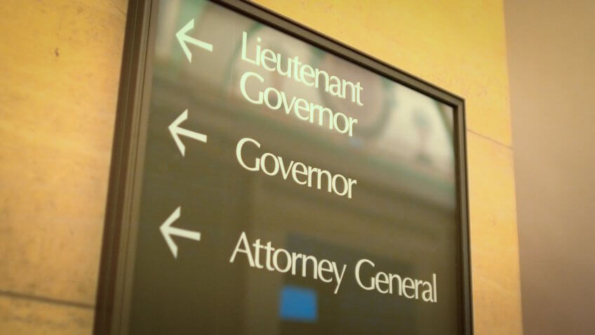Attorney General office sign