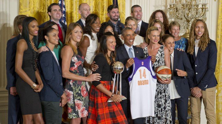 WNBA, champions, basketball, athletes, White House, Barack Obama
