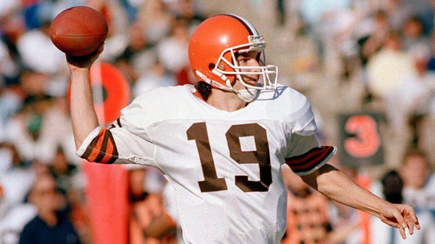 Bernie Kosar Undated phot of Bernie Kosar of the Cleveland Browns.