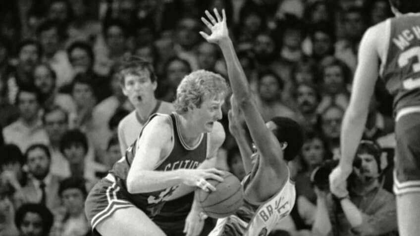 Larry Bird, Junior Bridgeman, basketball