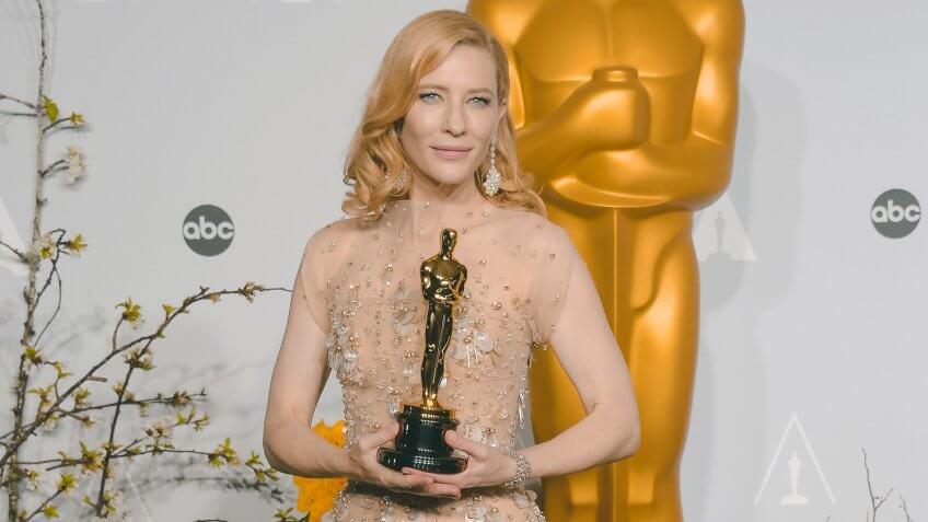 Cate Blanchett 86th Annual Academy Awards Oscars, Press Room, Los Angeles, America - 02 Mar 2014WEARING ARMANI PRIVE.
