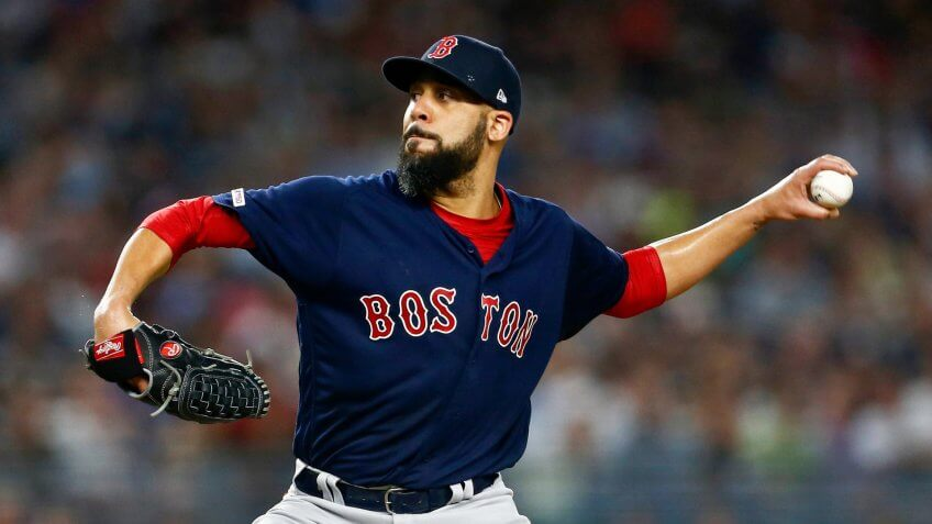 Boston Red Sox pitcher David Price delivers a pitch during the first inning of a baseball game against the New York Yankees, in New YorkRed Sox Yankees Baseball, New York, USA - 04 Aug 2019.