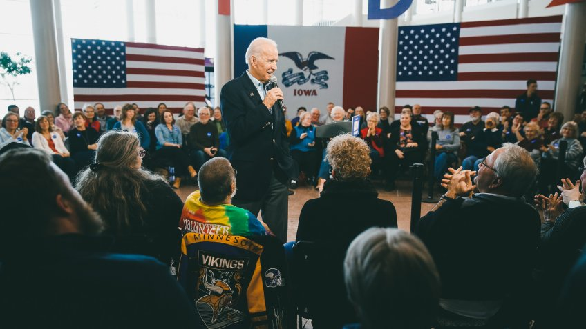 Democratic presidential candidate former Vice President Joe Biden speaks during a campaign event at the University of Northern Iowa, in Cedar Falls, IowaElection 2020 Joe Biden, Cedar Falls, USA - 27 Jan 2020.