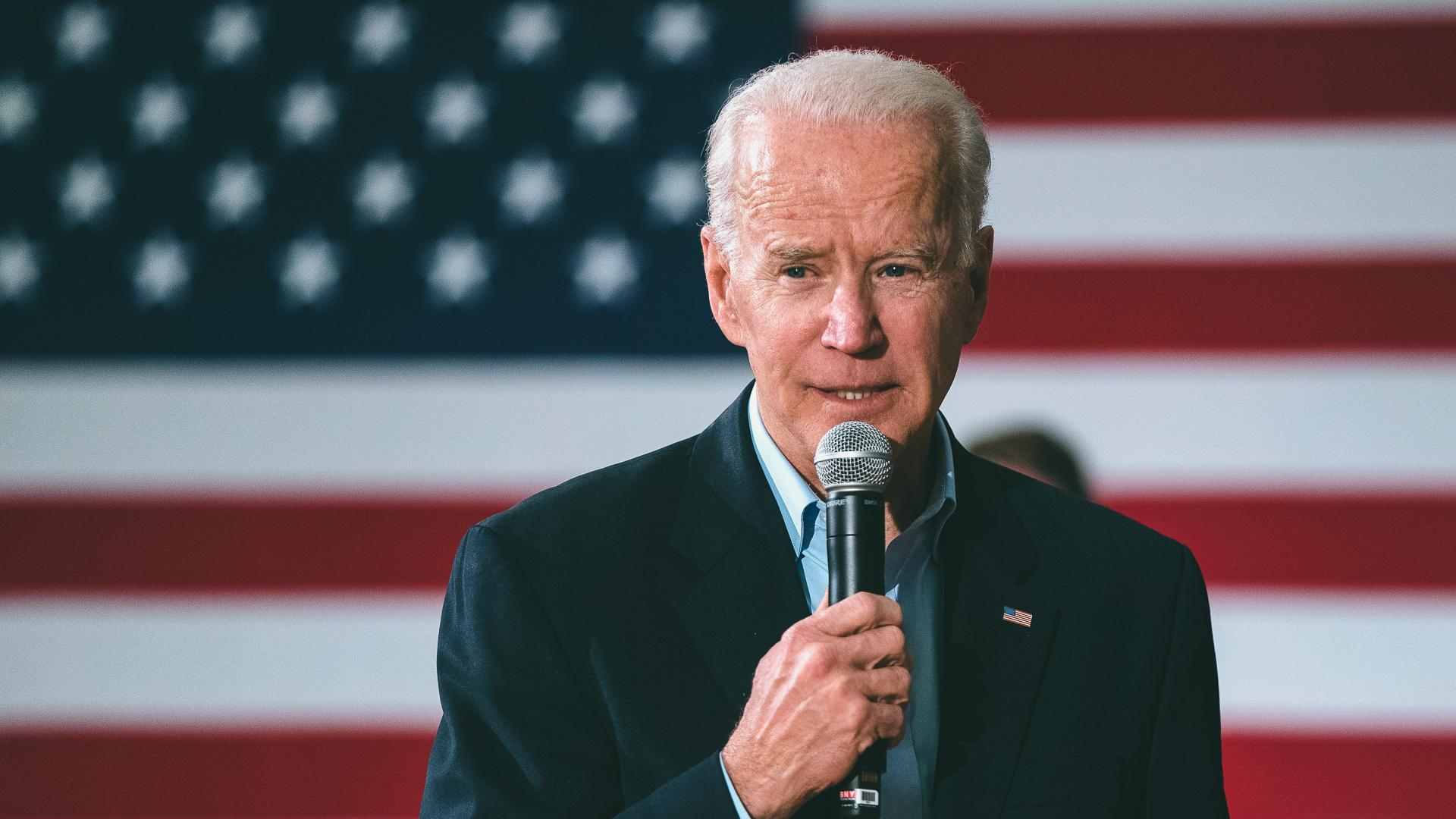 Democratic candidate and former Vice President Joe Biden speaks during a campaign event at the Iowa Memorial Union in Iowa City, Iowa, USA, 27 January 2020.
