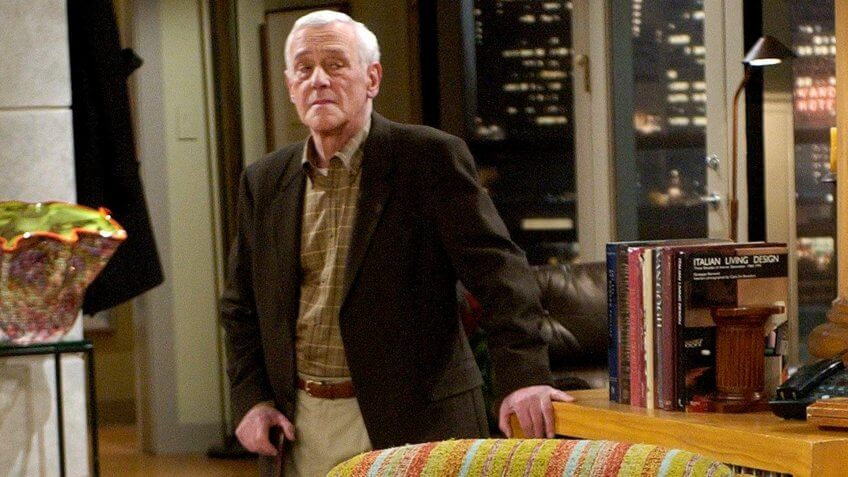 "John Mahoney stars as Martin Crane and his famous lounge chair during the filming of the final episode of ""Frasier"" on a set at Paramount Studios in Los AngelesTV FRASIER, LOS ANGELES, USA."