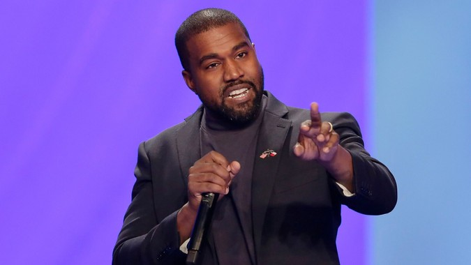 Kanye West answers questions
