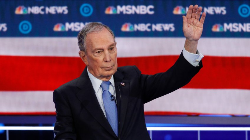 Democratic presidential candidates, former New York City Mayor Mike Bloomberg speaks during a Democratic presidential primary debate, in Las Vegas, hosted by NBC News and MSNBCElection 2020 Debate, Las Vegas, USA - 19 Feb 2020.