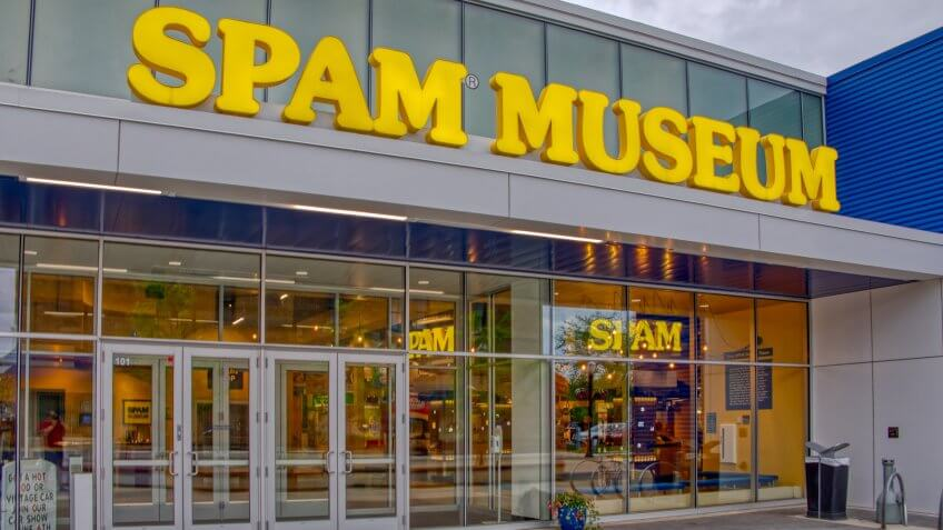 Austin, Minnesota, USA 5-1-19The Spam Museum is dedicated to the canned Meat Product.