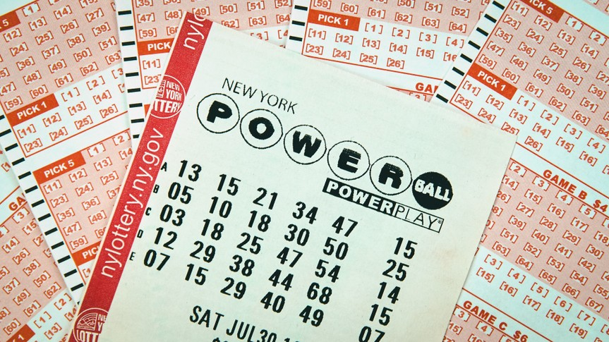 New York Powerball Lottery ticket