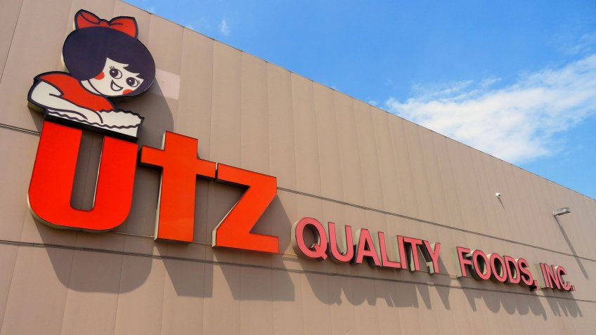 HANOVER, PA - AUGUST 11, 2015: Editorial image of the utz factory in Hanover, PA.