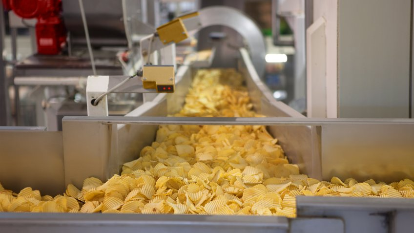 Potato chip factory