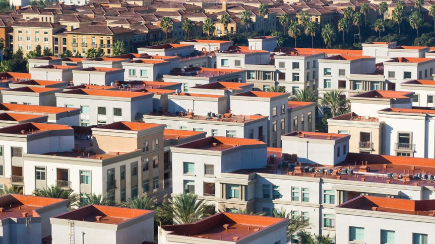 Red rooftops in Irvine, CA.