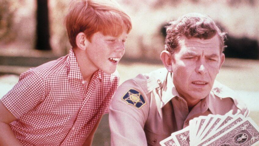 FILM STILLS OF 'ANDY GRIFFITH SHOW - TV' WITH 1962, ACCESSORIES, DECK OF PLAYING CARDS, ANDY GRIFFITH, RON HOWARD IN 1962VARIOUS.