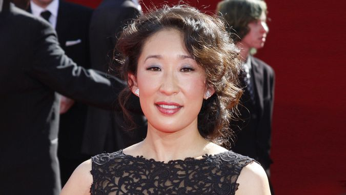 Sandra Oh at the 60th Primetime Emmy Awards held at the Nokia Theater in Los Angeles, USA on September 21, 2008.