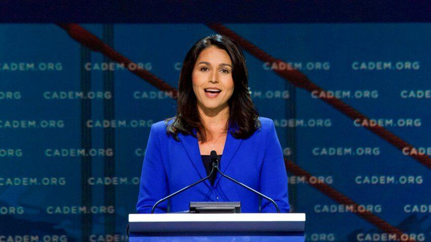 San Francisco, CA - June 01, 2019: Presidential candidate Tulsi Gabbard, U.
