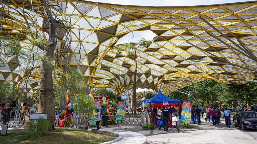 Kuala Lumpur, Malaysia - July 15 2018: Lake Garden also called the Tun Abdul Razak Heritage Park, offers hours of fun activities and sightseeing opportunities for just about any visitor.