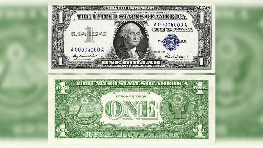 US $1 1957 Silver Certificate