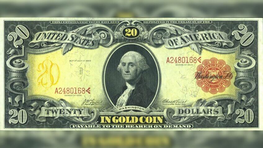 US $20 1905 Gold Certificate
