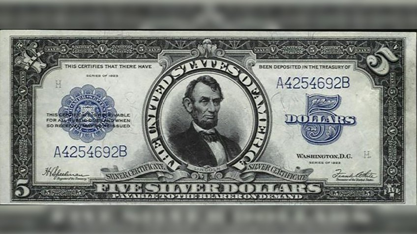 US $5 1923 Silver Certificate